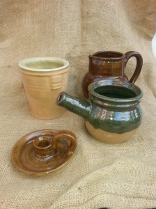 Historical Reproduction Pottery : mugs, bowls, candle holders, jars, and more