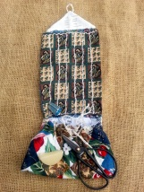 A different style of historical Housewife or sewing kit