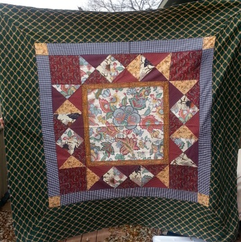 Hand sewn quilt by Marj