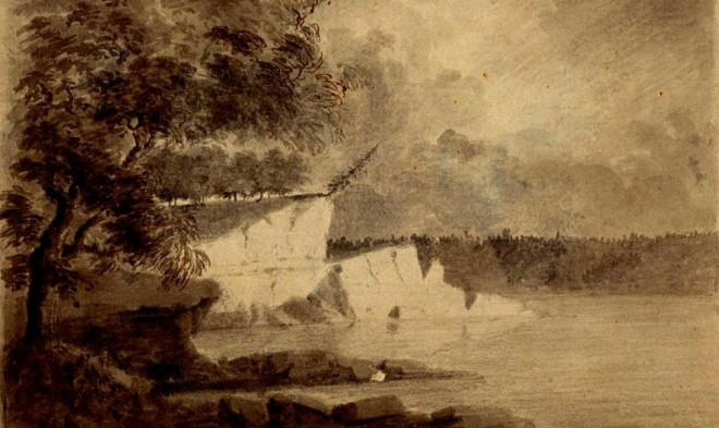 Sketch of the Wabash River from the time period of the Feast of the Hunters' Moon
