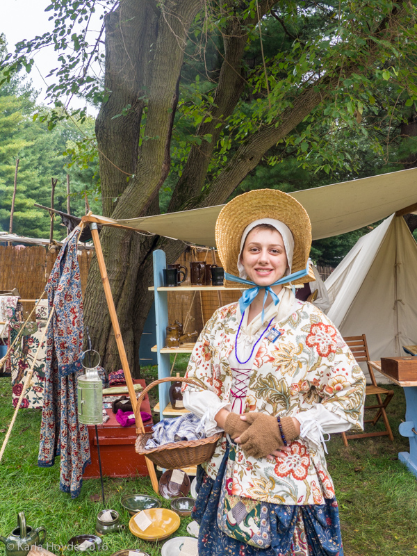 Karla is a historical re-enactor at the Feast of the Hunters' Moon