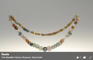 Hostoric Artifact beads in Swedish History museum