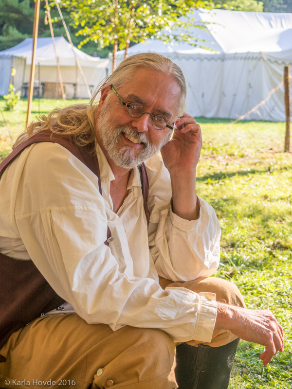 Davide Hovde is a historical reproduction potter at the Feast of the Hunters' Moon