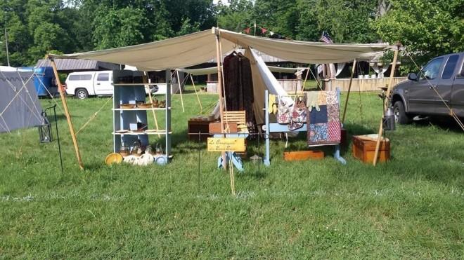 Vincennes Camp setup
